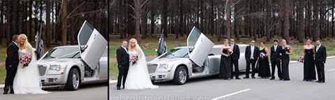 chrysler wedding limos in perth